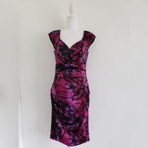 NEW! Sangria purple black sheath rouge dress sz 6
